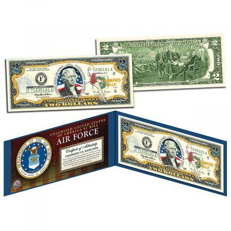 USA Air Force WWII 2 Dollar Bill