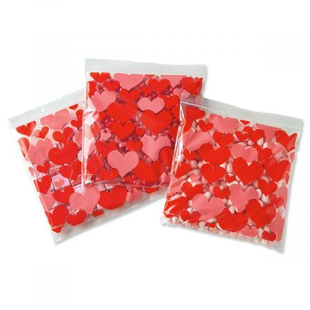 Resealable Valentine Treat Bags  - BOGO