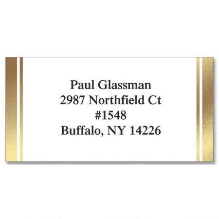 White & Gold  Foil Address Labels
