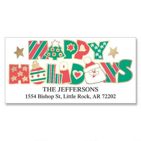 Holiday Fun Foil Deluxe Address Labels