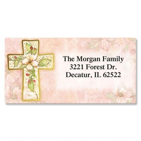 Flowers of Faith  Foil Border Address Labels