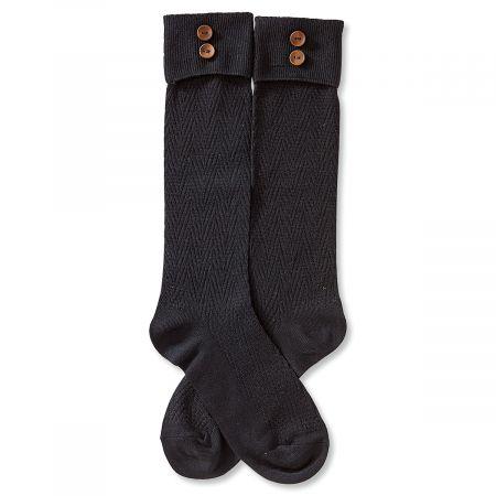 Boot Socks - Black Rolled Cuff