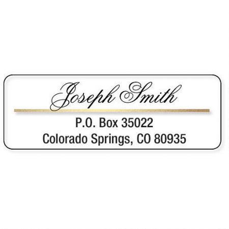 Gold/Clear Accent Address Labels