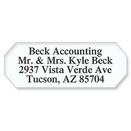 Octagon White Address Labels