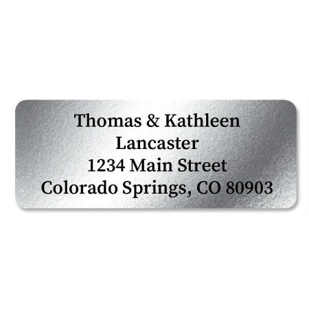 Silver Foil Address Labels - 96 Count Sheets