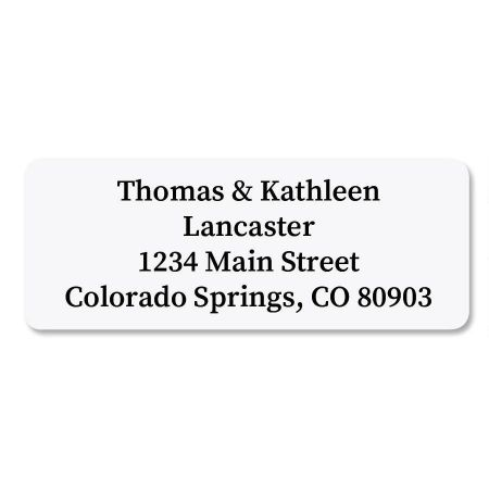 White Address Labels - 96 Count Sheets