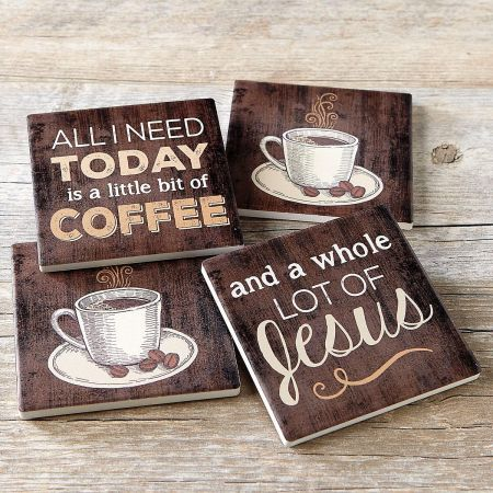 Coffee and Jesus Coasters