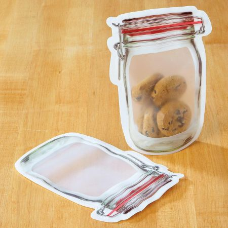 Medium Mason Jar Zipper Bag