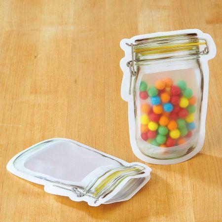 Small Mason Jar Zipper Bags