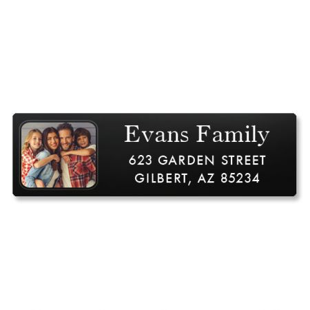 Modern Classic Photo Personalized Address Labels