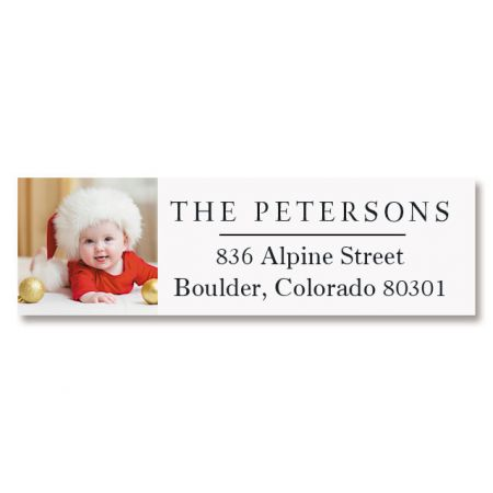 Classic Photo Large Name Personalized Address Labels