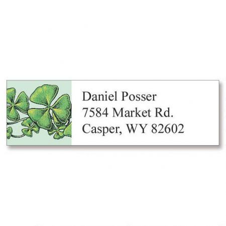 Shamrocks Classic Address Labels