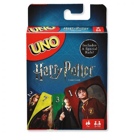 Harry Potter UNO Game Wizard fun, fast-paced game featuring iconic characters. Makes a great family game night with a magical twist. Up to 2-10 players for ages 7+