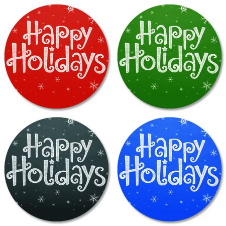 Happy Holidays Envelope Seals (4 Designs)
