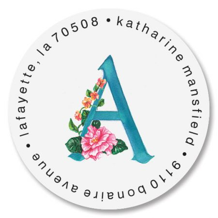 Tropical Initial Round Address Labels