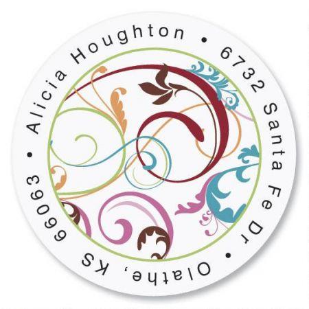 Fantasia  Round Address Labels
