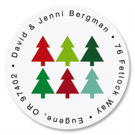 Oh Christmas Tree Round Address Label