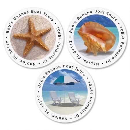Calm Seas Round Address Labels  (3 Designs)