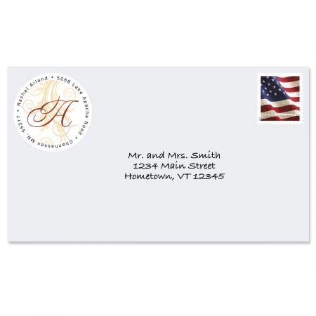 Tred Lightly Round Address Label