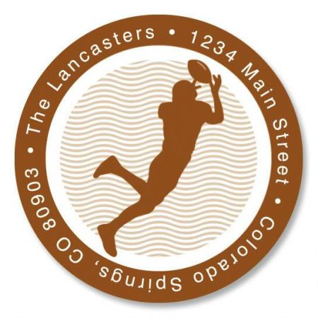 Sports  Round Address Labels  (6 Designs)