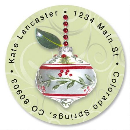 Winterberry Round Address Labels