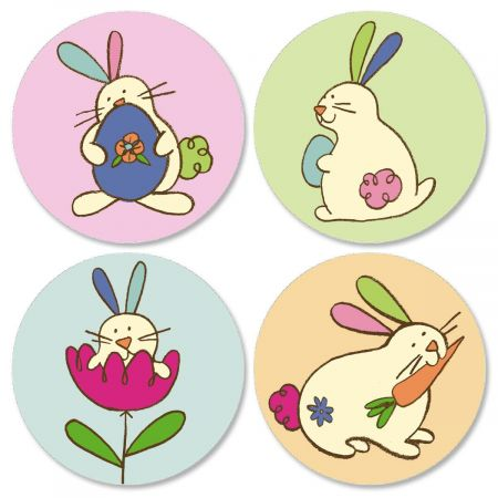 Egg-citing Easter Seals  (4 Designs)