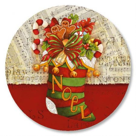 Christmas Stocking Envelope Sticker Seals