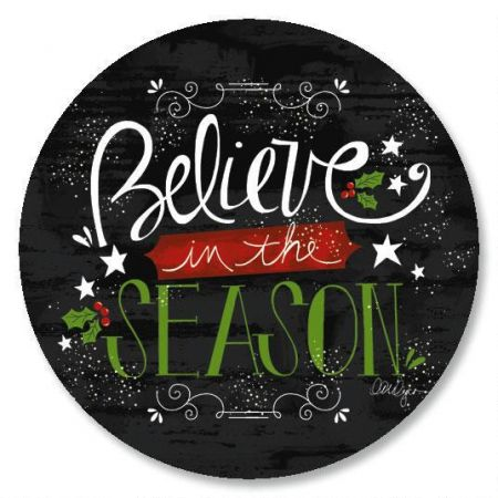 Believe In The Season Envelope Sticker Seals