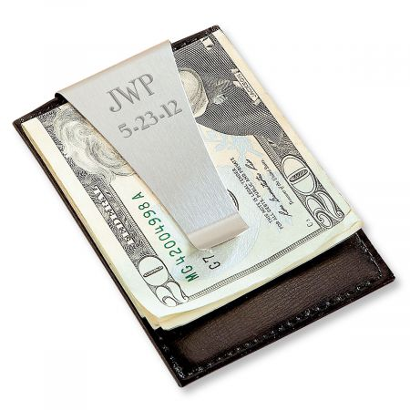 Personalized Engraving Included Ladybug Money Clip Wallet