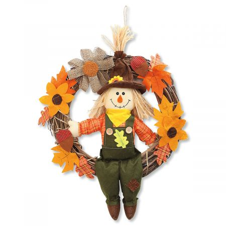 Sitting Scarecrow Wreath