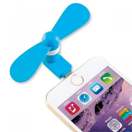 iFan Mini Breeze Hot office? Crowded concert? Lightweight, quiet, 3 W fan provides a gentle stream of air with soft, safe silicone fan blades. Uses minimal phone power; for iPhone 5 or newer. Colors vary; let us choose one for you.