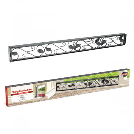 Black Decorative Metal Sliding Door Lock Bar