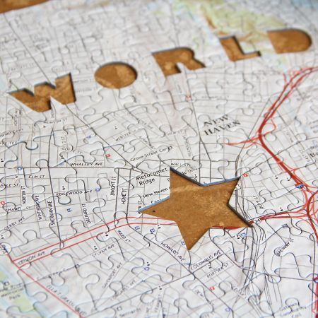 World's Greatest Dad Map Puzzle