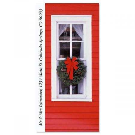 Christmas Windows Oversized Address Label