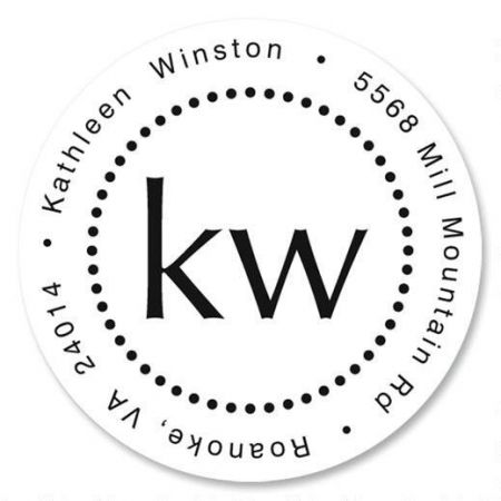 Simplicity Round Address Label