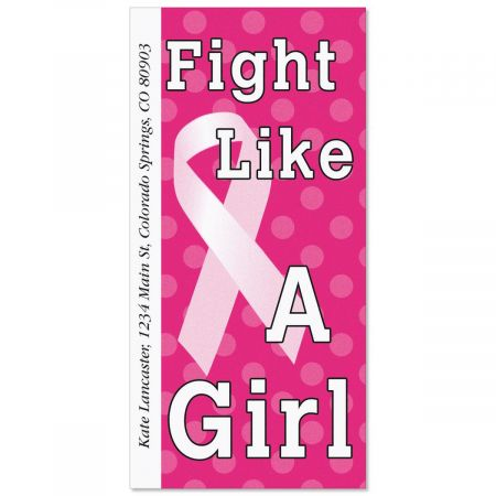 Fight Like a Girl Oversized Address Labels