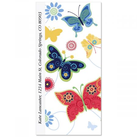 Delicate Butterflies Oversized Address Labels