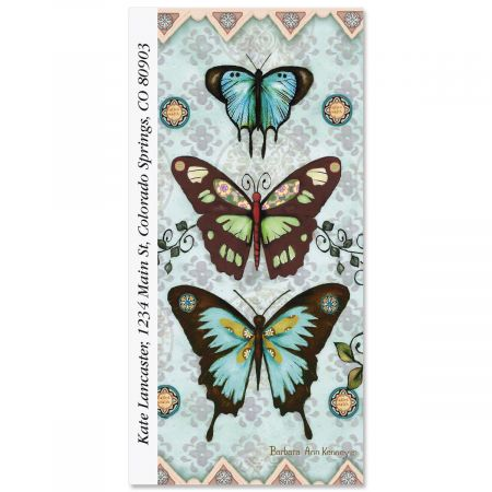 aqua butterfly collage oversized address labels current catalog