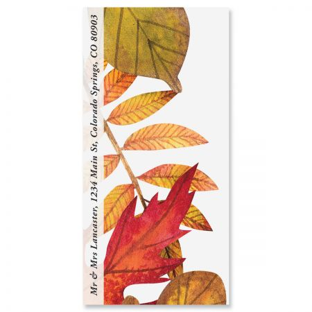 Leaves Falling Oversized Address Labels