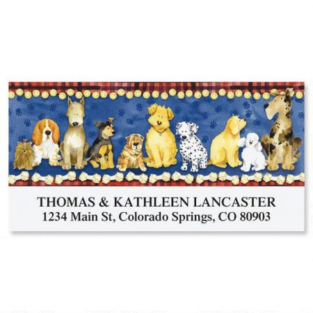 Puppies Deluxe Address Labels