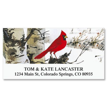 Cardinal Deluxe Christmas Address Labels