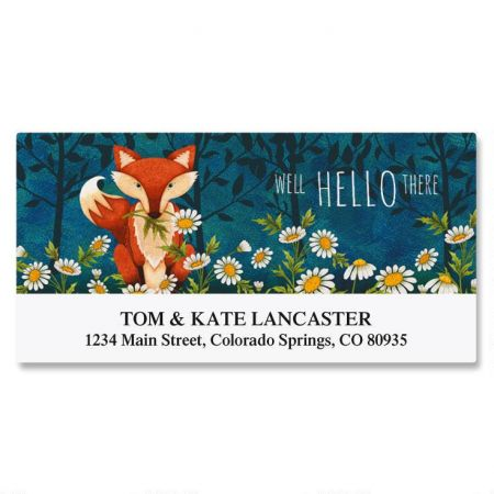 Foxy Deluxe Return Address Labels