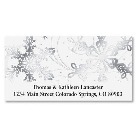Snow Swirls Deluxe Address Labels