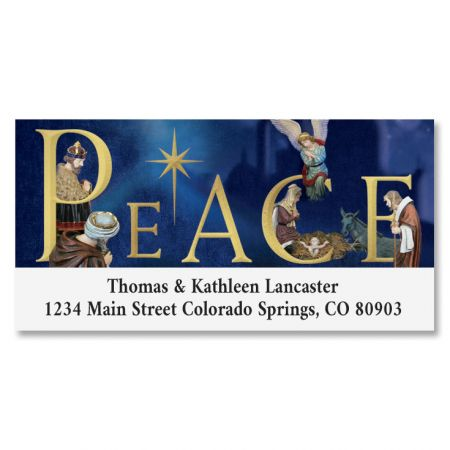 Peace Nativity Deluxe Address Labels