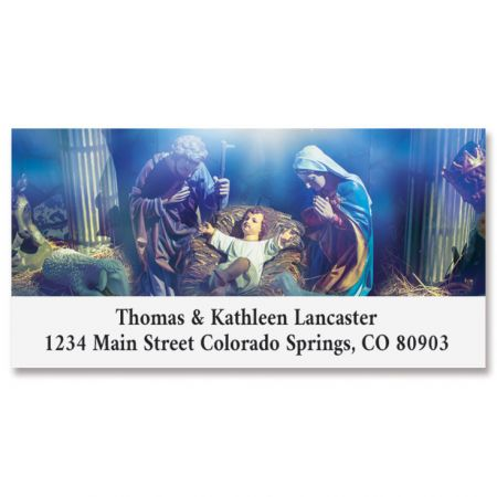 Blessed Nativity Deluxe Address Labels
