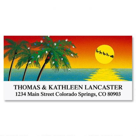 Tropical Holiday Deluxe Address Labels