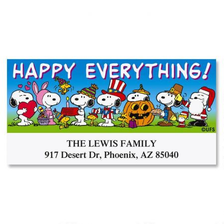 PEANUTS® Happy Snoopy Deluxe Label