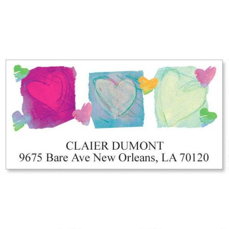 Paper Hearts Deluxe Address Labels