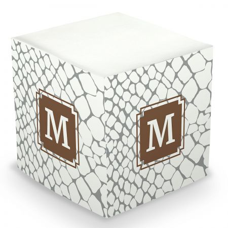 Personalized Snakeskin Sticky Memo Cube