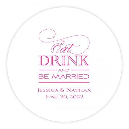 Custom Letterpress Coasters Eat Drink Be Married